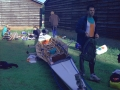 Preparatie van de boot