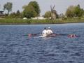 Roeien door Hollands landschap