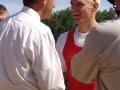 Nico Rienks feliciteert Andrej Synek met winst skiff