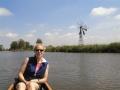Jennifer en een Nederlandse windmolen