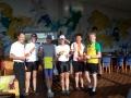 Winnende estafette-team